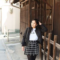New post on the blog where I show you an outfit shot in Kyoto.  @hm kids bomber  @boohoofrance Petite skirt & tee  @anaire_paris necklace  @sezane bag  #mode #blog #blogmode #blogmodeparis #fashionblog #frenchblogger #petitefashion #petiteblogger #boohoo #boohoopetite #petite #hm #hmkids #anaire #anaireparis #sezane #kyoto #japon #japan #picoftheday #photooftheday #instapic #nofilter #latergram #igers #ootd #look by petiteandsowhat