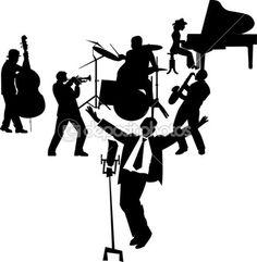 Fifties crooner on stage — Stock Illustration #16918885