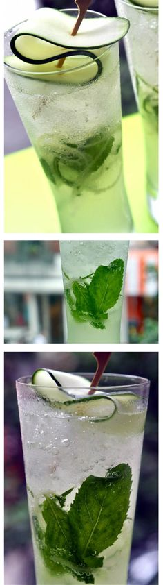 Ginger & Cucumber Sake Cooler This is true summer treat.. can't be more refreshing….