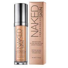 The Best Foundations for Dry Skin | Beauty High - Urban Decay Naked Skin Weightless Ultra Definition Liquid Makeup, $39, Sephora.com