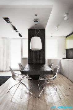 Dining space design in flat, POLAND - archi group. Jadalnia w mieszkaniu.
