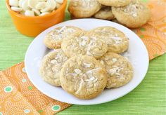 Coconut White Chocolate Chunk Cookies ~ One of my favorite cookies ever and so easy to whip up a batch!
