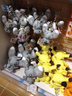 Pokemon Photos from Tokyo - Pikachu Minccino patchwork plushies