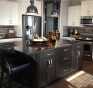 Kitchen with stainless steel appliance package, granite counter tops and island. Rainbow Falls, Appliance Packages, Counter Tops, Granite Countertops, Building A House, Stainless Steel, Island, Kitchen, Home