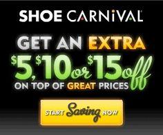 Shoe Carnival Surprise Savings!
