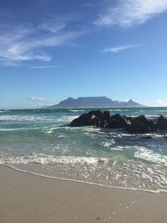Table Mountain from Table View, Cape Town, South Africa