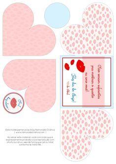 DIY Dia do Beijo - Cartãozinho Mil Beijinhos - Blog Namorada Criativa - Molde