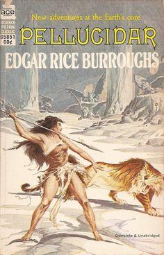 Pellucidar - Edgar Rice Burroughs, cover by Roy Krenkel