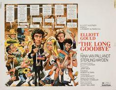 The Long Goodbye 1973 U.S. Half Sheet Poster