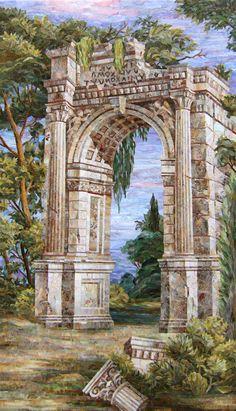 Мозаичная картина Римская руина