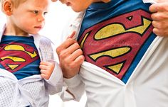 The groom & ring bearer having matching superman shirts - SO cute! Anda Photography 2012