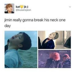 "505 Likes, 5 Comments - DAILY BANGTAN SPAMS (@bangtan.tv_) on Instagram: ""[BTS MEMES ] may god bless jimin's neck  - - cred to owner  admin CL  #bts #btsmemes #bangtanboys…"""