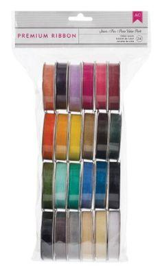 American Crafts 24-Pack Extreme Value Ribbon, Solid Sheer... https://www.amazon.com/dp/B009T4IOBK/ref=cm_sw_r_pi_dp_x_JVb5yb24ABH00