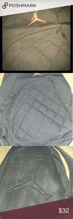Air Jordan backpack!! Air Jordan backpack, single strap, zipper closure, black and red Air Jordan logo. Like new, clean and smoke free home Air Jordan Bags Backpacks