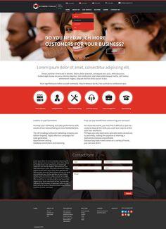 Call center logo and webdesign