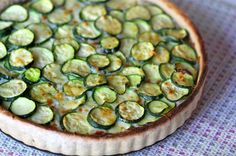 Meatless: Zucchini Tart w/ WW Olive Oil Crust Lunch Recipes, Vegetable Recipes, Vegetarian Recipes, Healthy Recipes, Zucchini Tart, Zucchini Lasagna, Savoury Baking, Favorite Recipes, Olive Oil