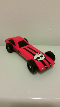 Monster High Pinewood Derby Car Girl Scout Fun Pinterest