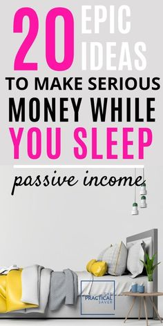 Money Making Ideas & Tips Looking to make more money? Don't have enough hours in a day? Or just lazy? Here's a list of 20 PASSIVE INCOME ideas to generate income even while you sleep! Don't miss an opportunity to build wealth! Take Money, Earn More Money, Earn Money From Home, Earn Money Online, Make Money Blogging, Way To Make Money, Mo Money, Earn Extra Cash, Making Extra Cash
