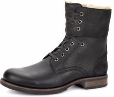 UGG - Men's Larus Military Leather Winter Boots - Black