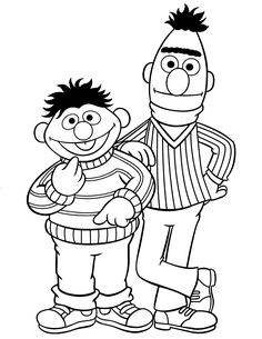 Image result for sesame st colouring pages