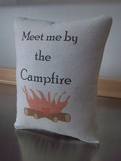 camper pillow cotton throw pillow camping gift ideas soft cushion easy gift handmade home decor