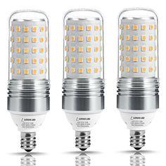LOHAS LED Candelabra Bulb 100W Equivalent, Light Bulbs E12 Base (12W), 2700K Warm White, 1100LM, LED Corn Bulb for Ceiling Fans Light, Non Dimmable(3 Pack) #LOHAS #Candelabra #Bulb #Equivalent, #Light #Bulbs #Base #(W), #Warm #White, #Corn #Ceiling #Fans #Light, #Dimmable( #Pack)