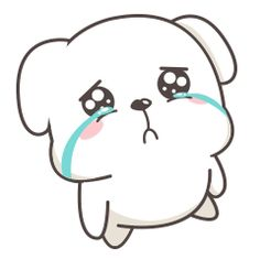 24 Cute white dog gif iPhone emoji Animoji free download