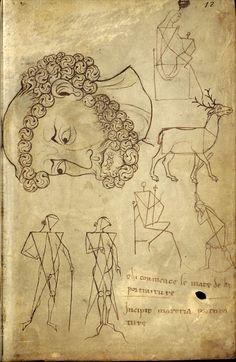 Le carnet de Villard de Honnecourt (vers 1220-1230), fol. 35 - Paris, Bibliothèque nationale de France, Département des manuscrits, Français 19093