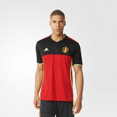 e7bf1031bf895 adidas - Camisa Bélgica Esportes, Vermelho, Roupas De Futebol, Adidas  Homem, Camisas