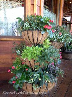 Tiered planter- FlowerPatchFarmhouse.com