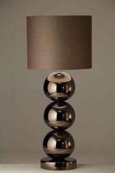 Milano tafellamp bronze 3 bollen van Verlichtingen