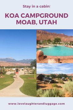 If you're heading to Arches National Park in Moab, Utah, why not stay at the KOA Campground in Moab. Our cabin stay was perfect for our family. #utah #UnitedStates #U.S. #moab #familytravel #travel #camping #archesnationalpark
