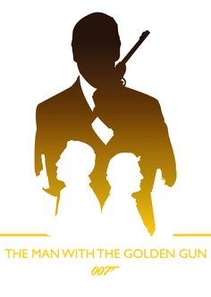 The Man With The Golden Gun, James Bond by Phil Beverley, via Behance