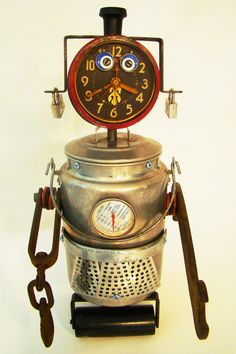 Found object Robot Sculpture by Bills Retro Robots on Etsy