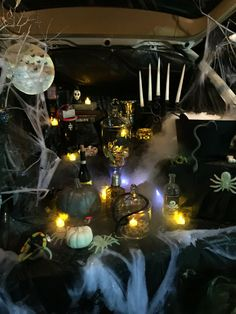 trunk or treat witch theme potions spell books candles snakes - Halloween Trunk Or Treat Decorating Ideas