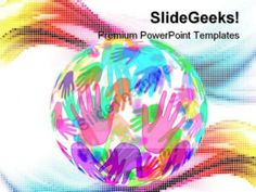 Hands Background Globe PowerPoint Templates And PowerPoint Backgrounds 0311 #PowerPoint #Templates #Themes #Background
