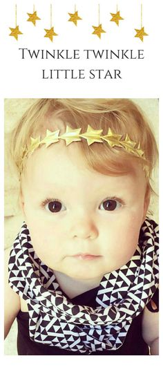 How adorable are gold star headbands for a Twinkle Twinkle Little Star party?