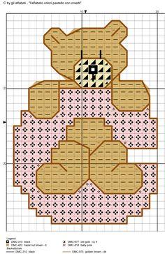 alfabeto colori pastello con orsetti C
