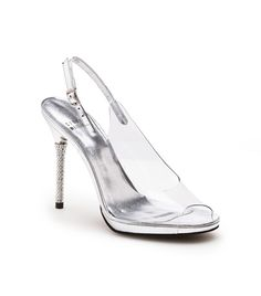 The Disclose    Evening elegance in a PVC peeptoe with a crystal studded heel.