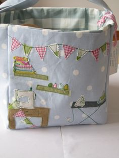 crafty sewing box by ambersparkle88 on Etsy - gorgeous appliqué