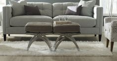 Talk about curve appeal. These footstools are fun and functional.