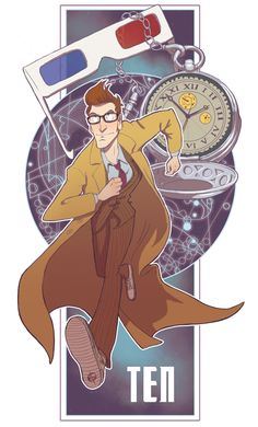 Tenth Doctor - Anyone know who drew this originally? It's fantastic.