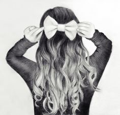 Bow in Hair Drawing