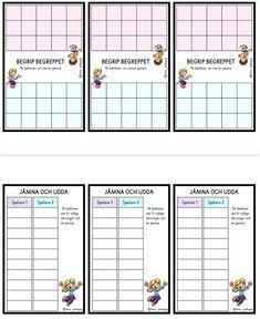 13 olika mattespel Spelregler att sätta på insidan/utsidan av lådan Tomma bingobrickor Etiketter till lådorna Register att sätta på insidan/utsidan av locket