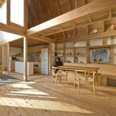 House in Kashiwa is a minimalist residence located Chiba, Japan, designed by ai/yuki CHIDA. Japanese Home Design, Japanese Style House, Japanese Interior, Home Interior Design, Interior Architecture, Interior And Exterior, Wooden House, House In The Woods, My Dream Home