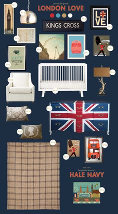 Style Spotter Joni Lay created this London-inspired board for the 2012 Olympics. More Style Spotter posts: www.bhg.com/blogs/better-homes-and-gardens-style-blog/?socsrc=bhgpin080712jonilaylondon
