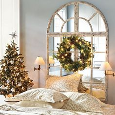 Grand Chateau Window Mirror from Ballard Designs. How pretty would this be on the wall on the stairs.
