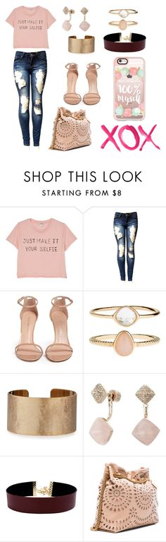 """fashion"" by saira-0209 on Polyvore featuring moda, Monki, Stuart Weitzman, Accessorize, Panacea, Michael Kors, Vanessa Mooney, STELLA McCARTNEY, Casetify y GALA"