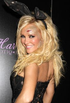 Bridget Marquardt rocks a funky hairstyle for Halloween