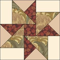 JEANNE Barbara Brackman's MATERIAL CULTURE: Morris Modernized: Hope of Hertfordshire Quilt Pattern